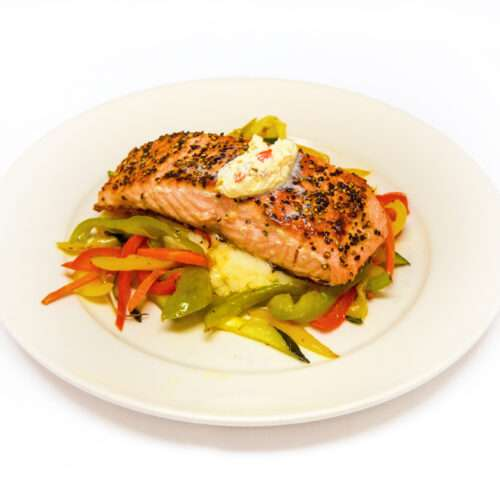 Monty's Steakhouse Peppered Salmon
